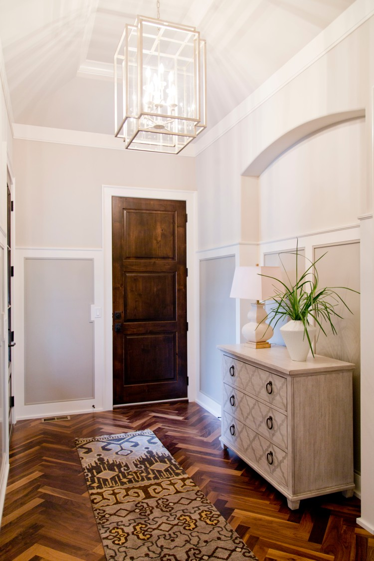 Cecil & Ray Homes hallway with Mariana Home lantern light for Kansas City Parade of Homes