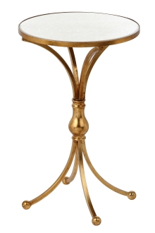 Mariana Home-152030-end-table-drink-table-mirror-gold-classic