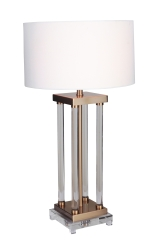 Mariana Home-180075 light on-crystal-lamp-gold-lamp-drum-shade-modern