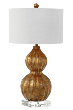 Mariana Home-310008-accent-lamp-gold-gourd-lamp-with-drum-shade
