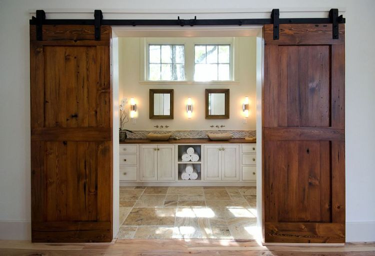 gorgeous-reclaimed-fir-barn-doors-for-the-posh-master-bathroom
