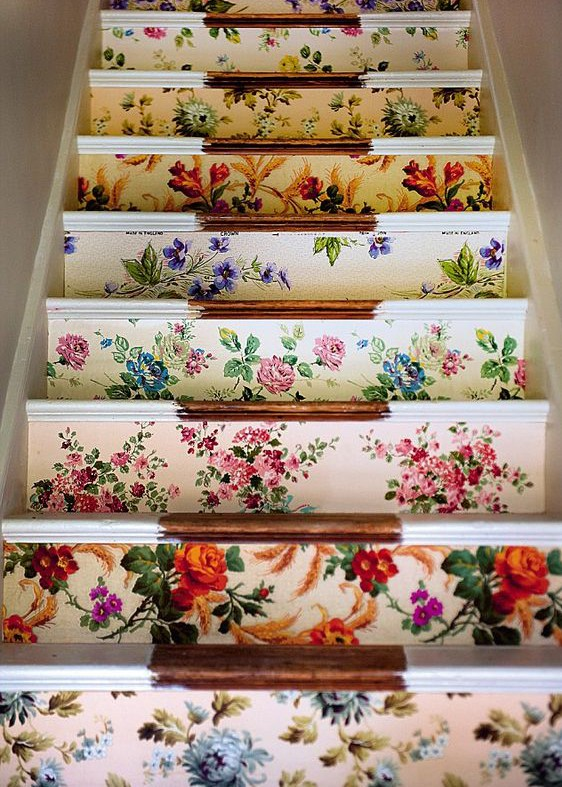 granny-floral-stairs-modern-florals-update-vintage-patterns