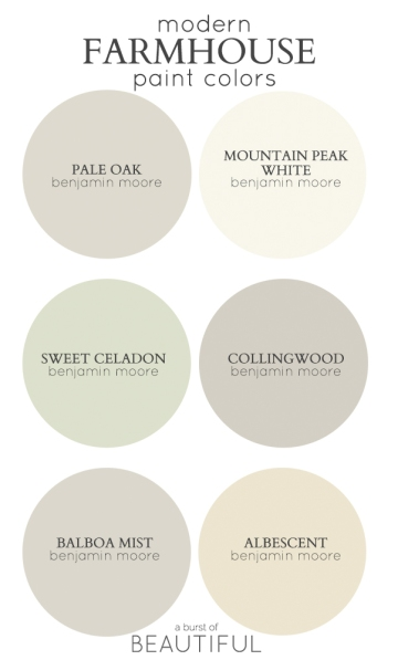 Modern Farmhouse Colors from A Burst of Beautiful