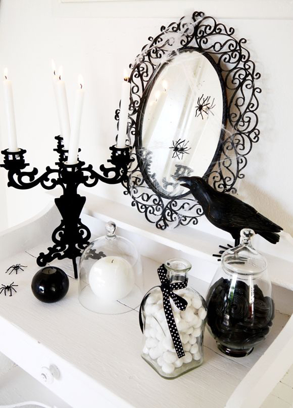 black-and-white-halloween-decorating-ideas