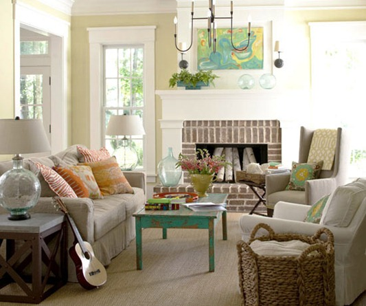 Cottage Style Living Room Bhg