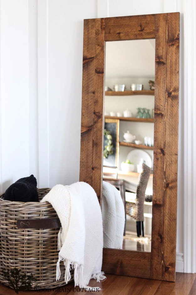 diy-wood-framed-mirror-farmhouse-style
