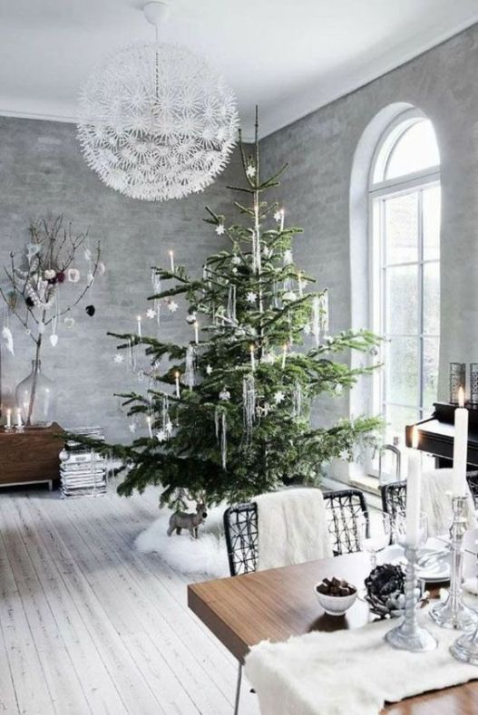 06-a-white-fur-tree-skirt-table-runner-and-chair-throws
