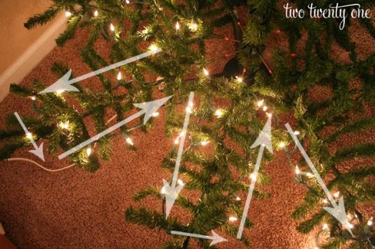 how-to-put-lights-on-christmas-tree-step-2