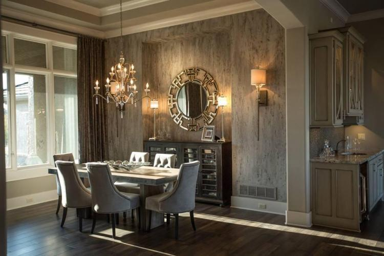 js-robinson-fine-homes-mariana-home-dining-room-chandelier-sconces-decorative-mirror-buffet-lamps