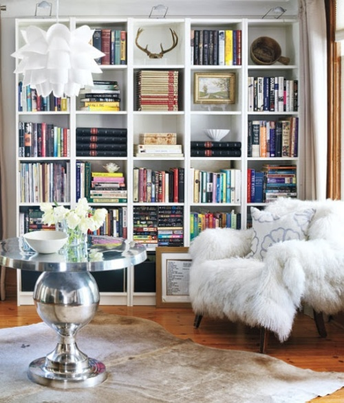 faux-fur-chair-white-ecclectic-books-bookcase-lounge