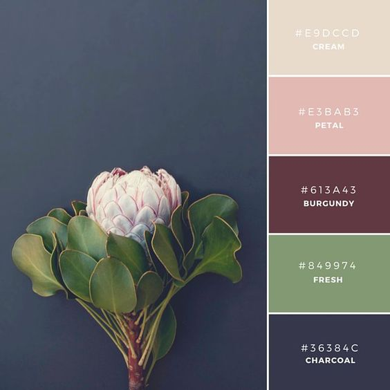 floral-palette-nature-natural-inspiration-interior-design-green-pantone-burgundy