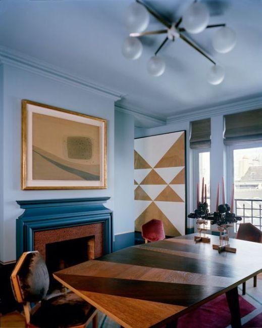 geometric-art-gold-blue-white-dining-room-inspiration-interior-design