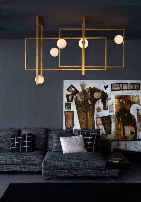 geometric-gold-modern-art-black-lighting-inspiration-living-room