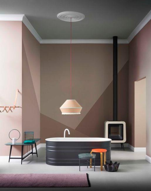 geometric-wall-interior-design-brown-neutrals-tub-bathroom-design-inteior-modern