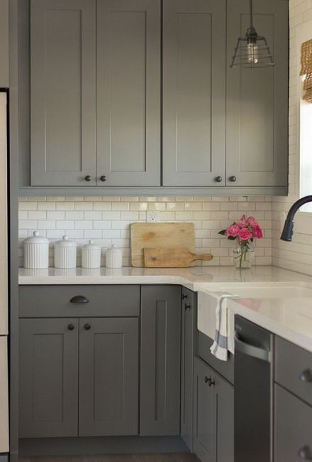 matte-cabinet-kitchen-grey-white-subway-tile-interior-design