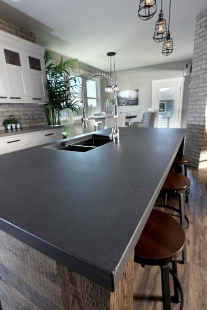 matte-counter-countertop-black-island-kitchen-cabinet-modern