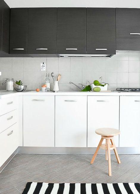 mismatched-cabinets-kitchen-black-white-interior-design-home-decor-modern-contemporary