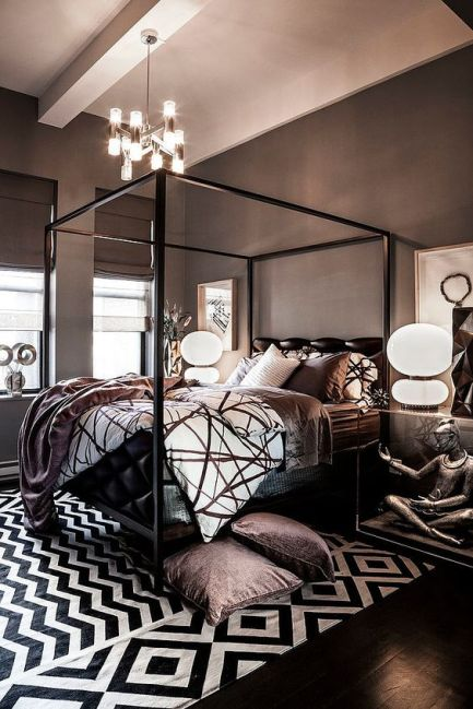 pattern-black-white-interior-design-prints-bedroom-lighting-comfort