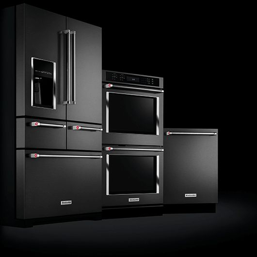 Stainless Steel Kitchen Cabinets With Oven: Sexy, Sleek Black Stainless Steel