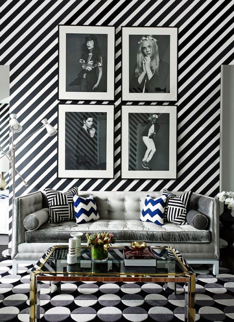 bold-interiors-inspiration-interior-design-home-decor-patterns-stripes-black-and-white