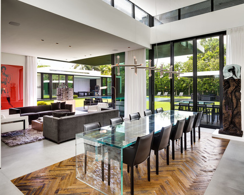 contemporary-dining-room-acrylic-table-interior-design