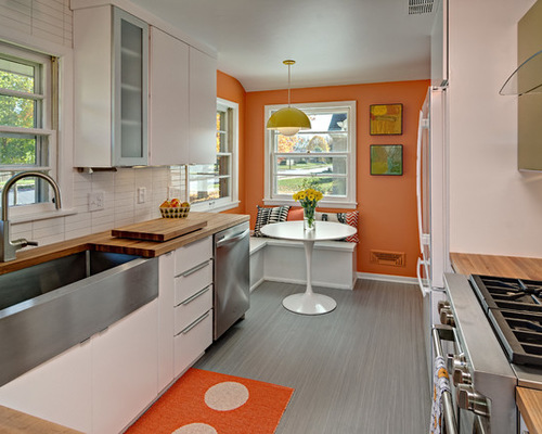 mid-century-modern-retro-kitchen-orange-yellow