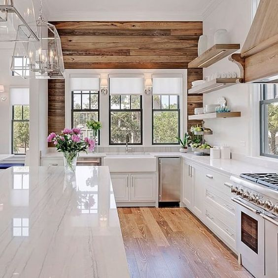 ... Interior Trends, Kitchen, Large Window, Lifestyle, Lights, Modern, Modern  Farmhouse, Modern Farmhouse Kitchen, Nature, Spaces, Stainless Steel,  Style, ...