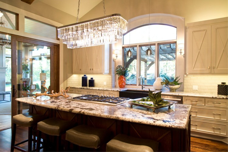 Willis Construction-Mariana Home-crystal-kitchen-island-pendant-light