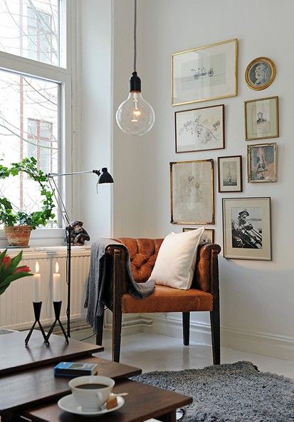 eclectic-decor-orange-chair