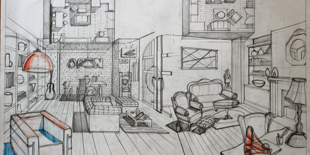 Navigating through your eclectic style for Interior design sketches