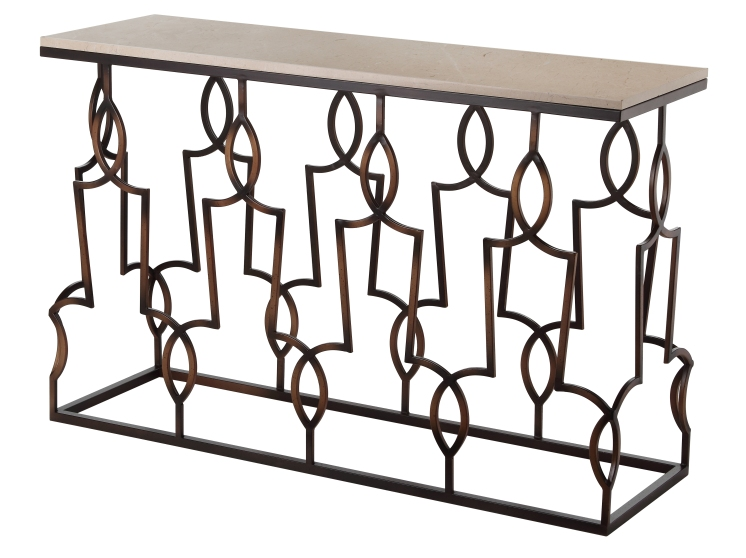 Mariana Home-152024-console-bronze-modern-industrial-sofa-table