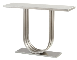 Mariana Home-152042-metal-marble-console-table-silver-classic-modern-minimal-style