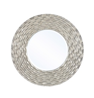 Mariana Home-210156-soft-gold-metal-framed-round-mirror-texture-modern-glam