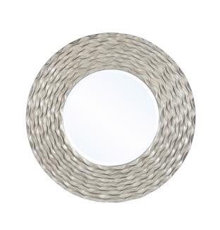 Mariana Home-210156-soft-gold-metal-framed-round-mirror-texture-modern-glam