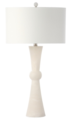 Mariana Home-320024-white-alabaster-table-lamp-mid century modern-classic-glam