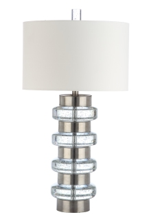 Mariana Home-830031-contemporary-silver-mixed-material-table-lamp