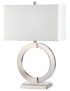Mariana Home-830033-silver-metal-marble-mixed-material-contemporary-modern-table-lamp
