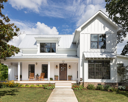 4 elements of a modern farmhouse exterior for Modern farmhouse blog