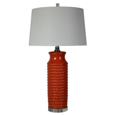 Red Camden Table Lamp